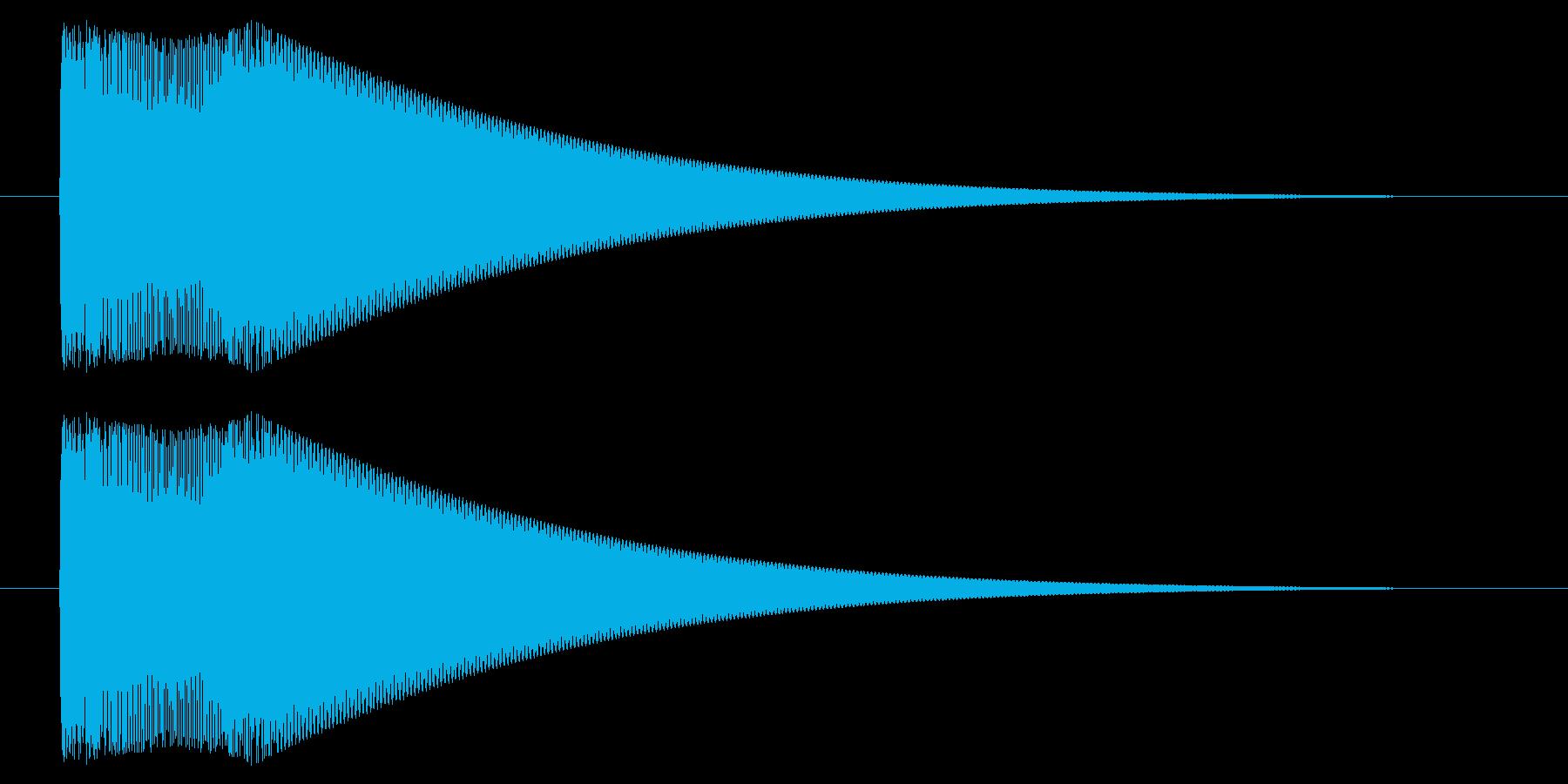 キュピーン/光る/閃くの再生済みの波形