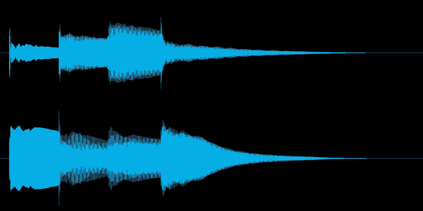 チャイム アナウンス07-3の再生済みの波形