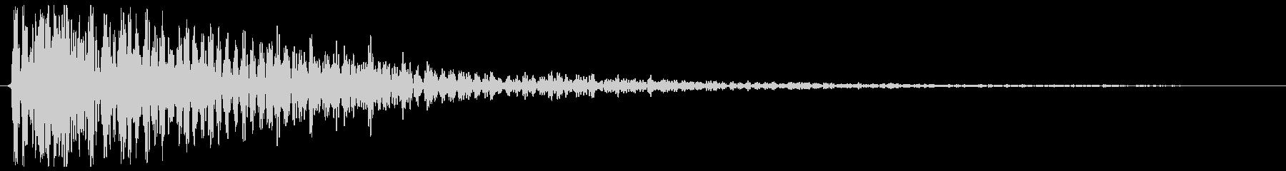 ゴーン(低めの鐘の音色)の未再生の波形