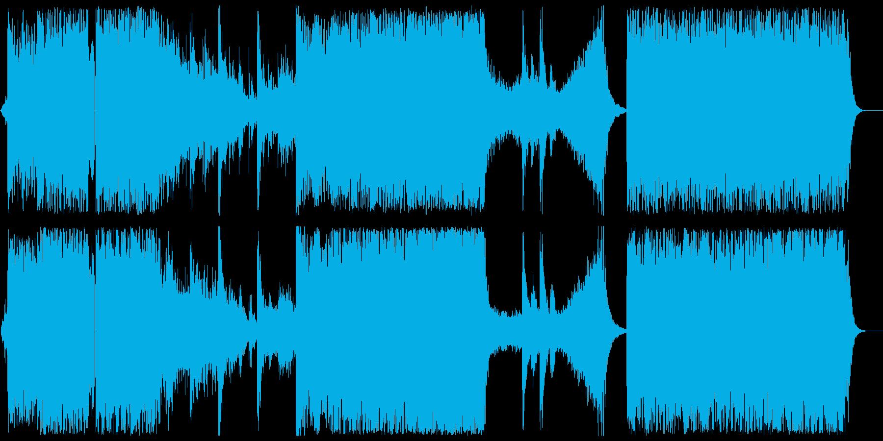 ドキドキ感とミステリアスなシンセサウンドの再生済みの波形