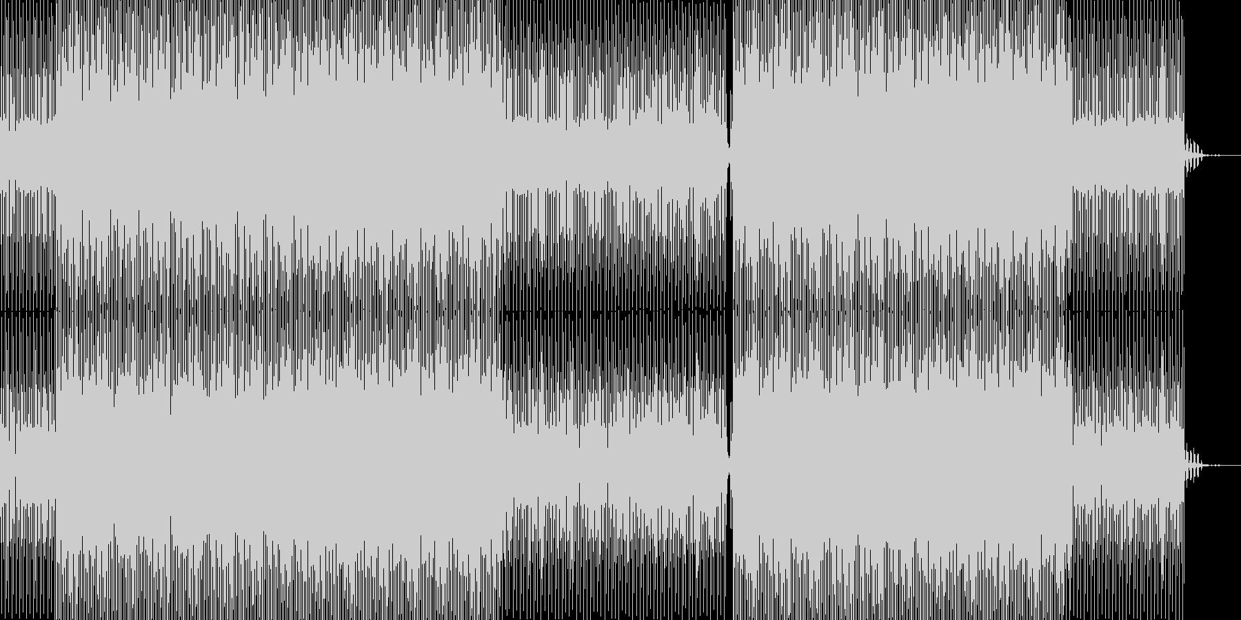 静かでノイジーでアンビエント的テクノの未再生の波形