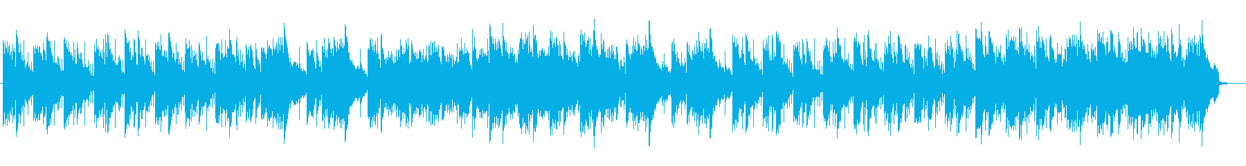 水辺にいるようなヒーリング系ストリングスの再生済みの波形