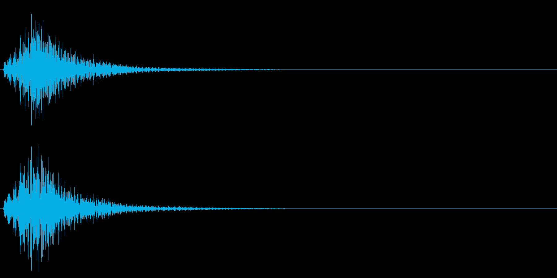 ハープのグリッサンド 低音域バージョンの再生済みの波形