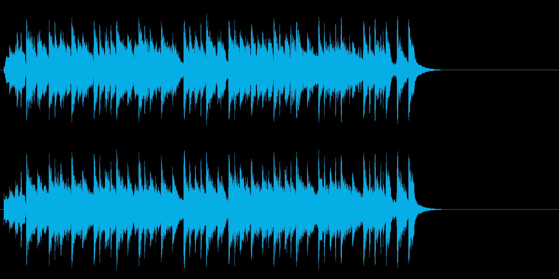 ほのぼのとしたポップ(Aメロ)の再生済みの波形