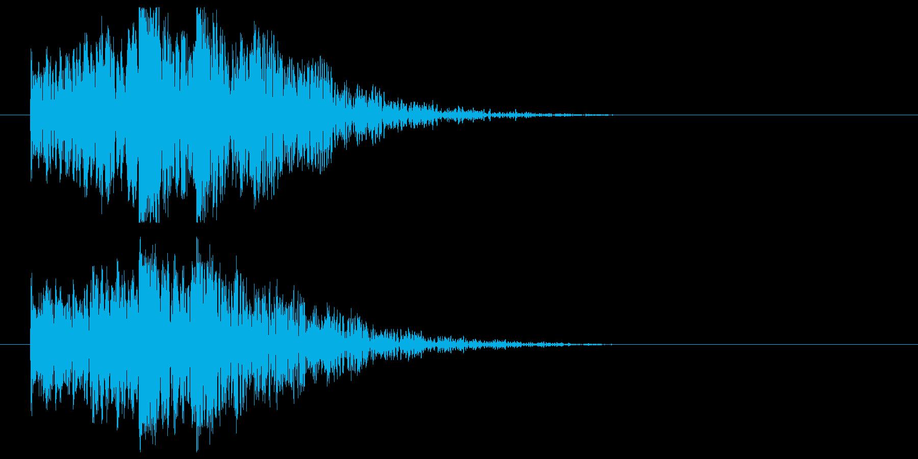 低音インパクト_タイトル表示の再生済みの波形