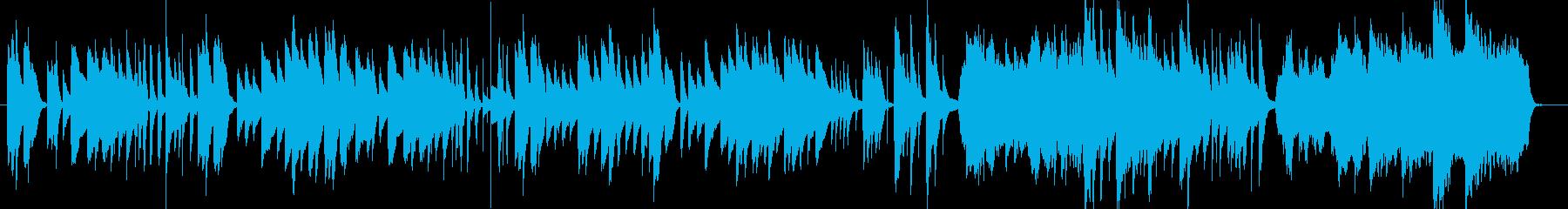 日常のコミカルな場面向けピアノBGMの再生済みの波形