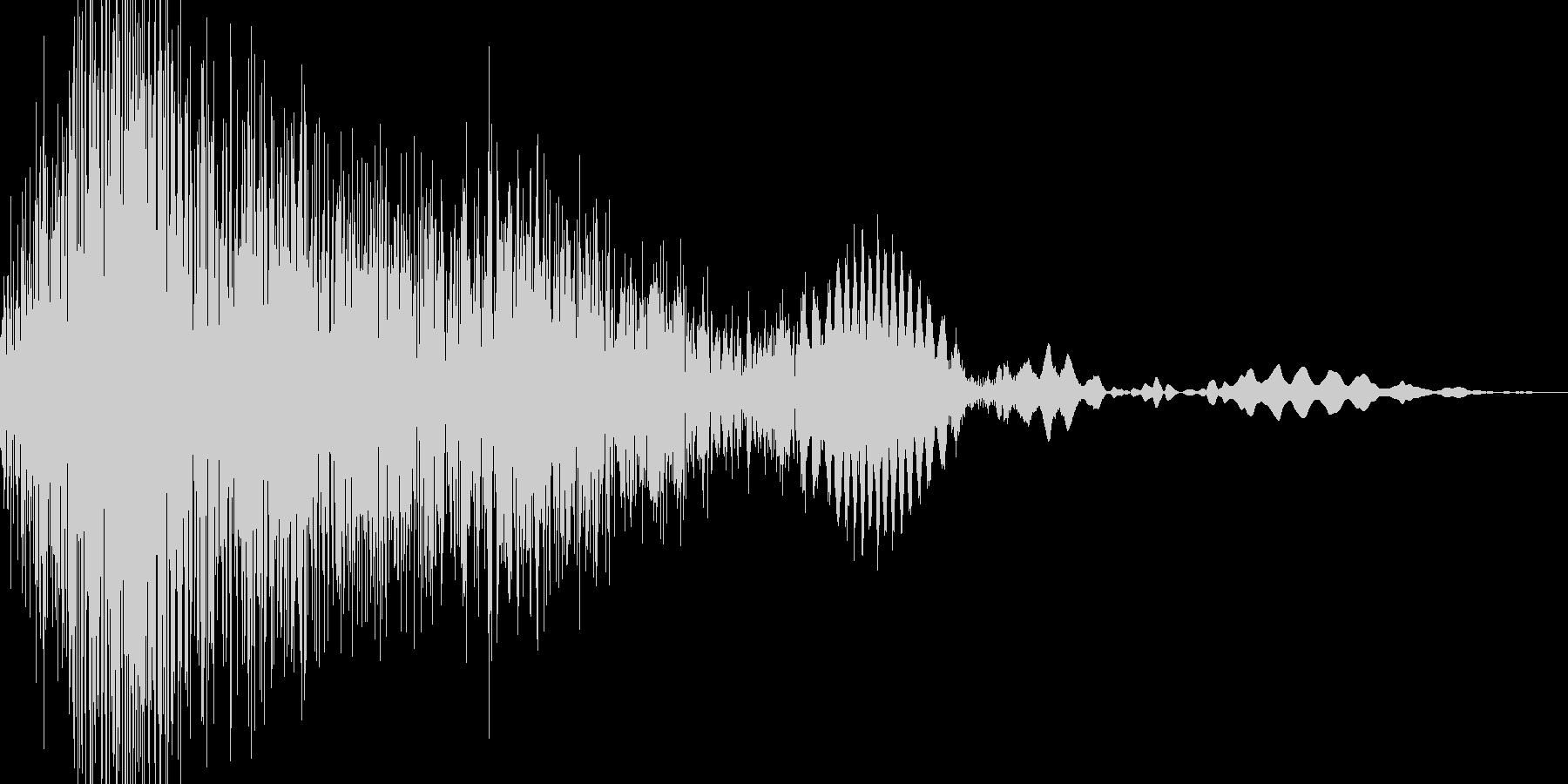 シュバッ!っと切り替わる感じの音ですの未再生の波形