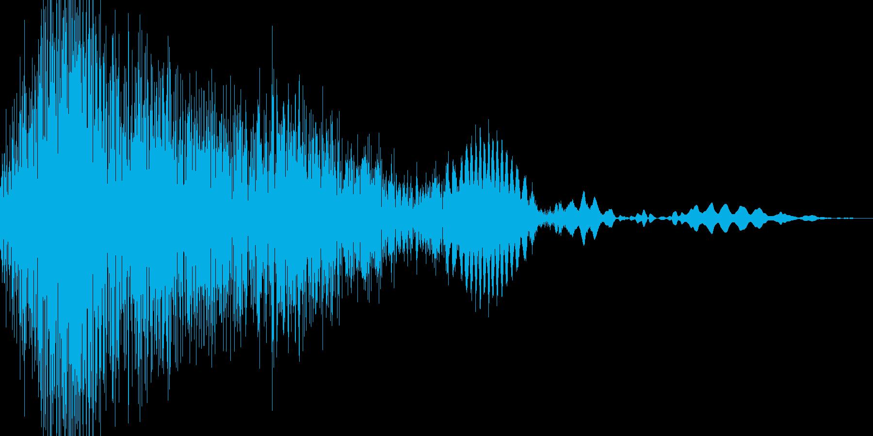 シュバッ!っと切り替わる感じの音ですの再生済みの波形