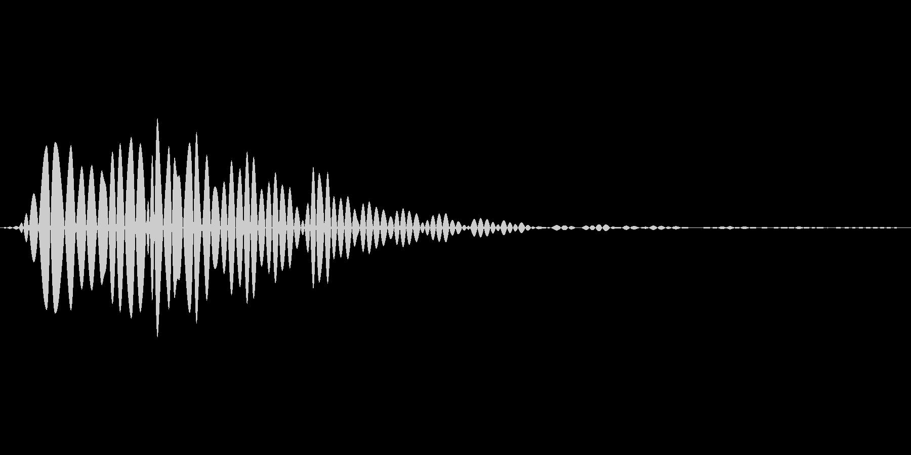 汎用的なタップ音の未再生の波形