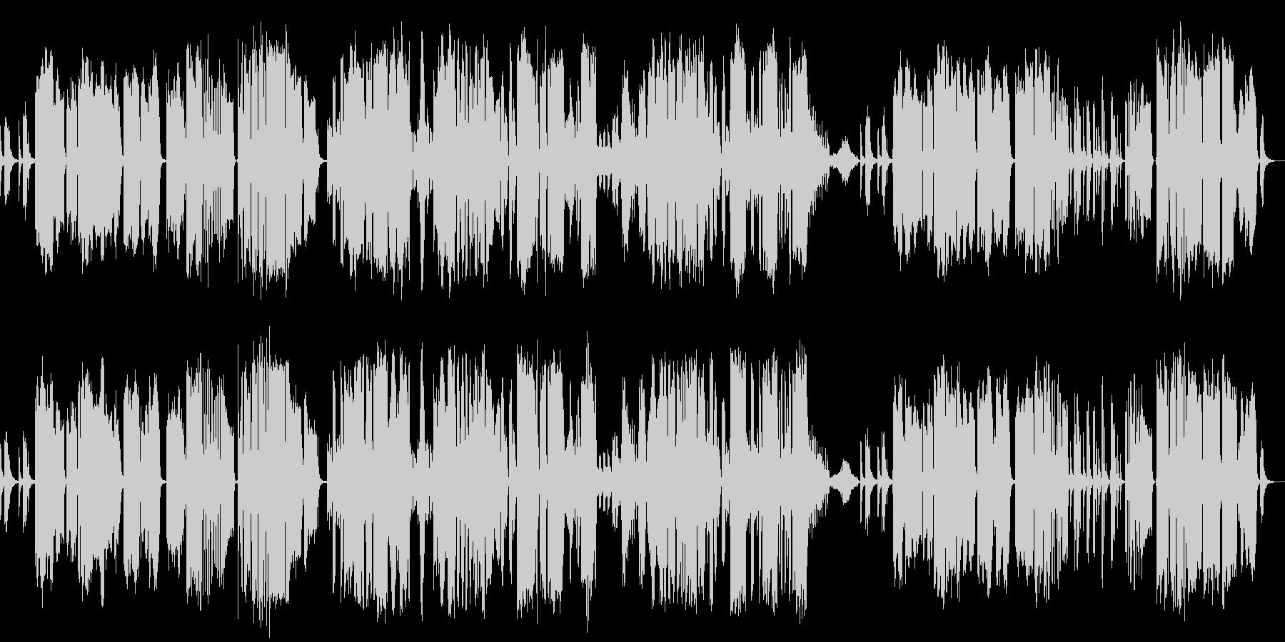 宮城道雄作曲の箏と尺八の二重奏の未再生の波形