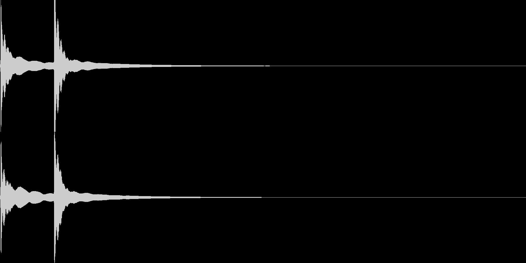チーン(自転車のベル)2回【生録音】の未再生の波形