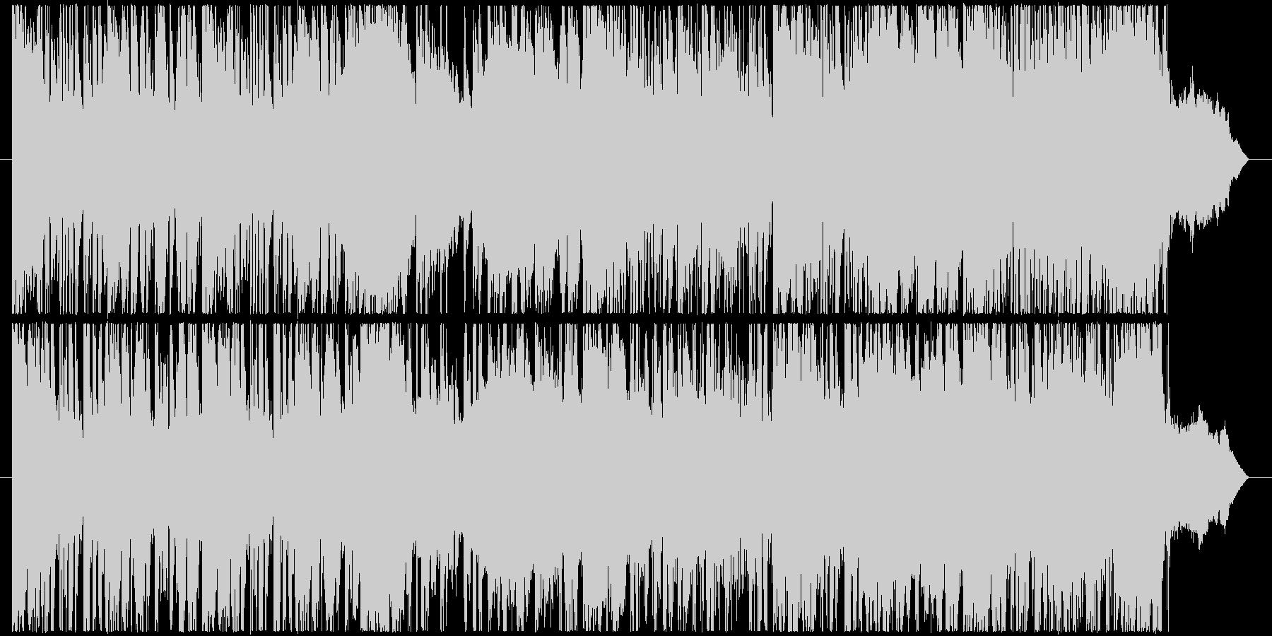 金属音などを取り入れたサウンドです。の未再生の波形
