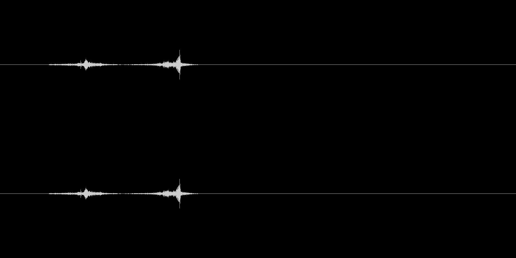カーソル移動するときの音の未再生の波形