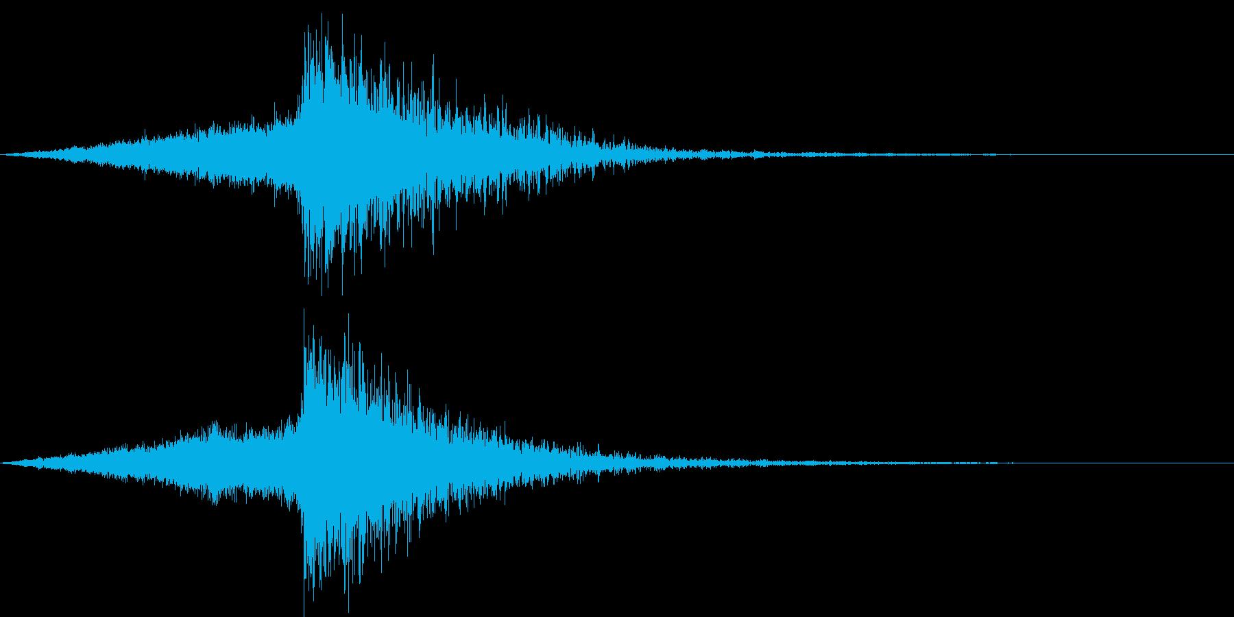 タイトルコールに使える派手なオケヒの再生済みの波形