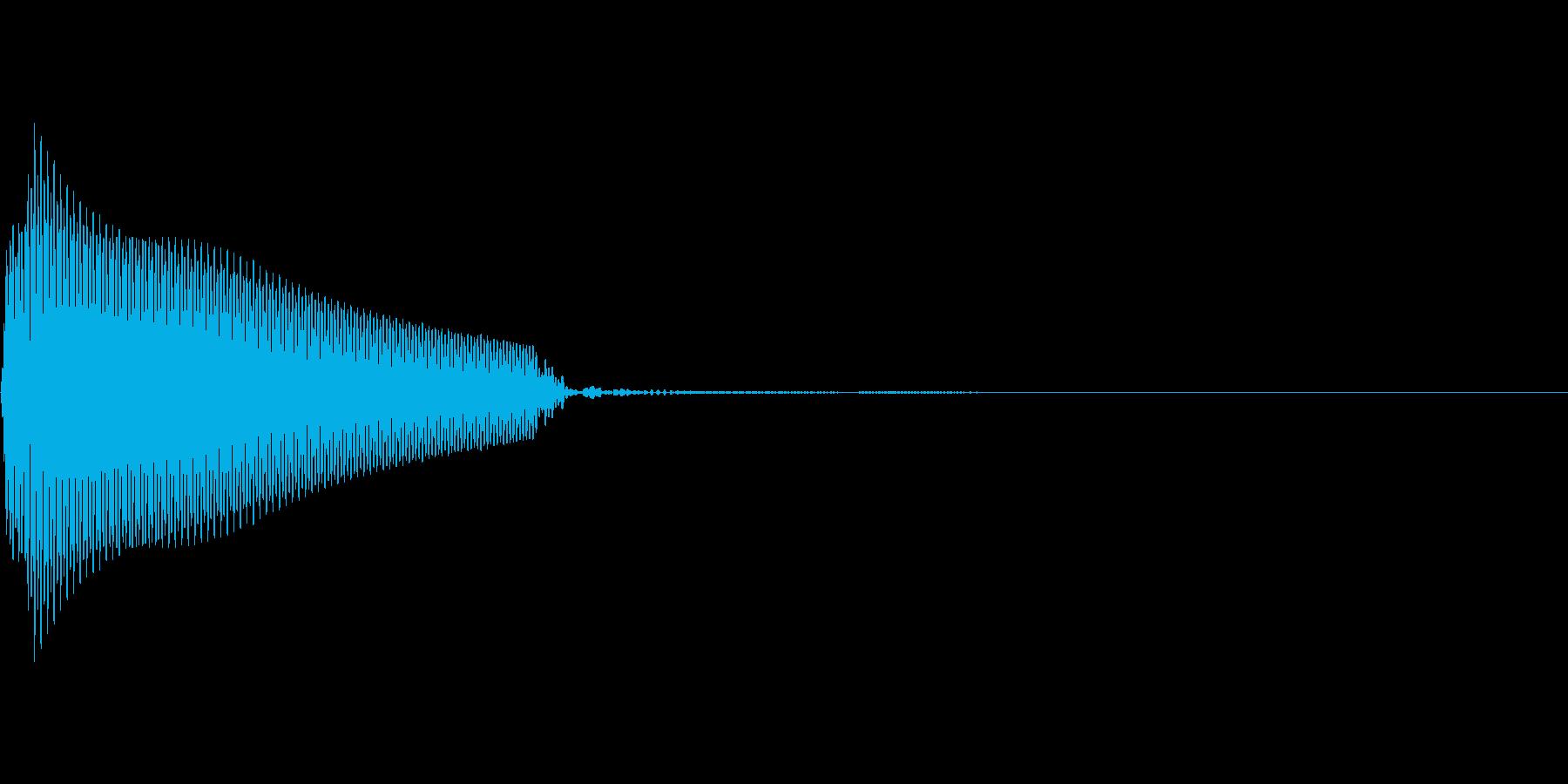 App ボタン プッシュ音 ピッ!!の再生済みの波形