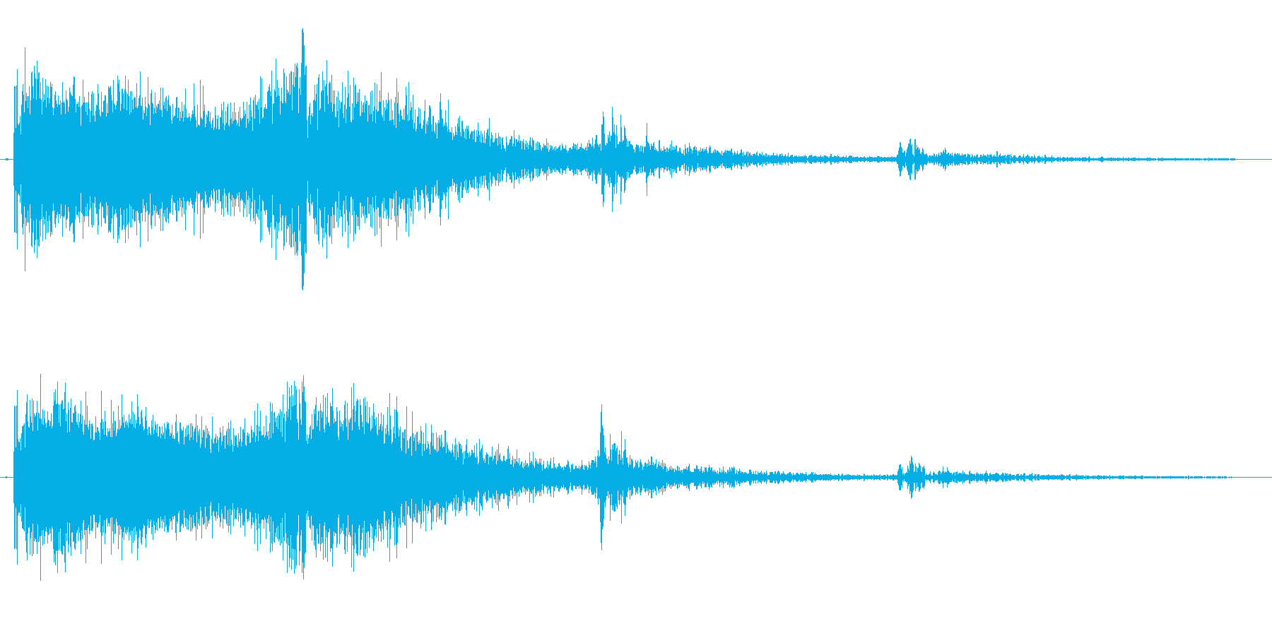 シューン(機械的な発射音)の再生済みの波形
