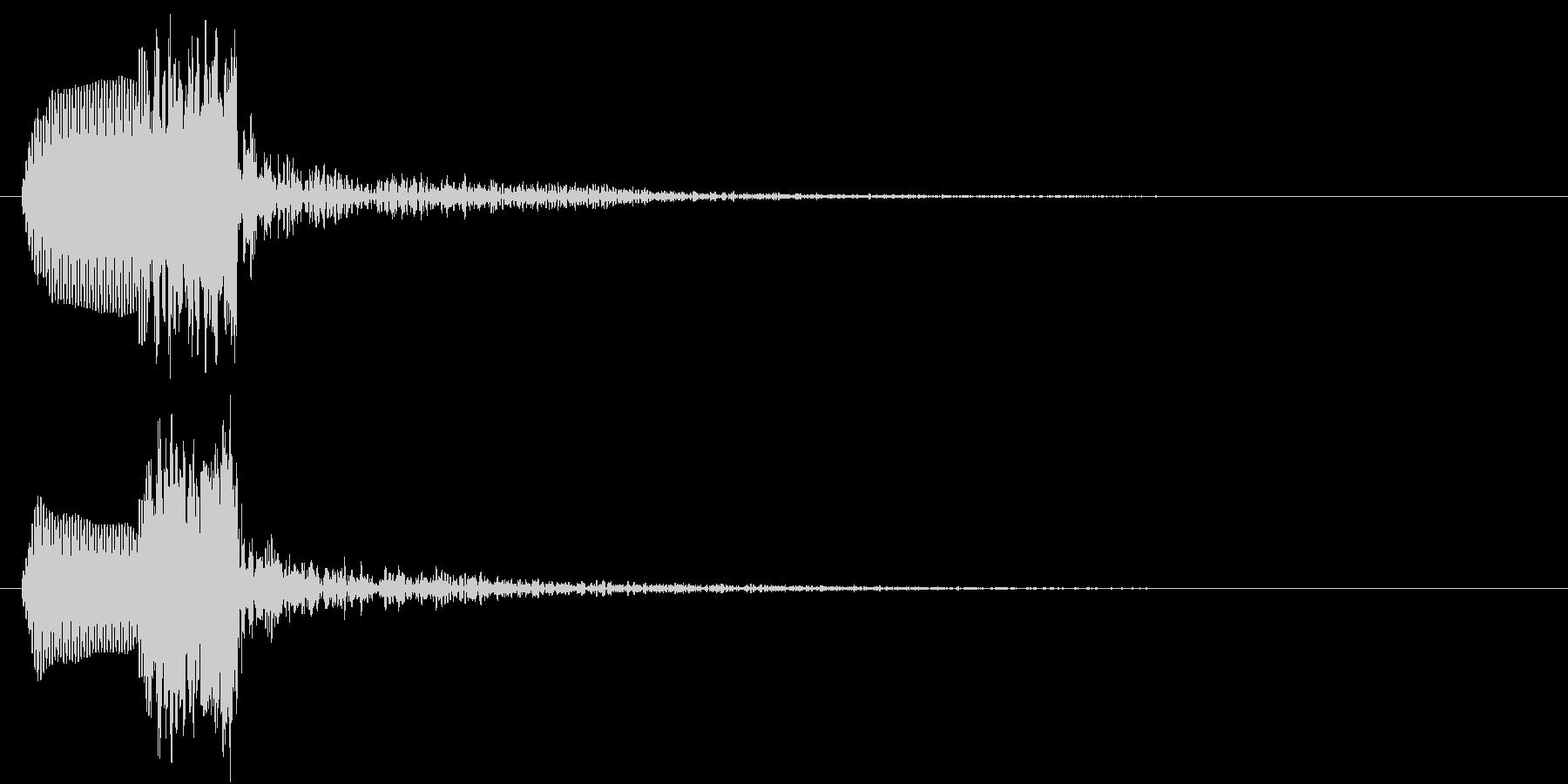 あわ(ポワッ)の未再生の波形