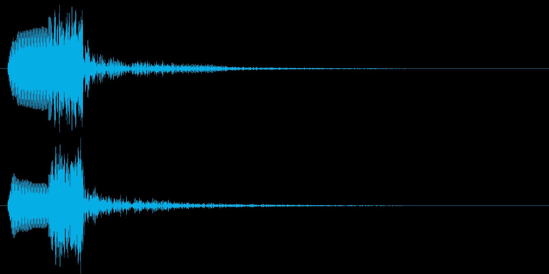 あわ(ポワッ)の再生済みの波形