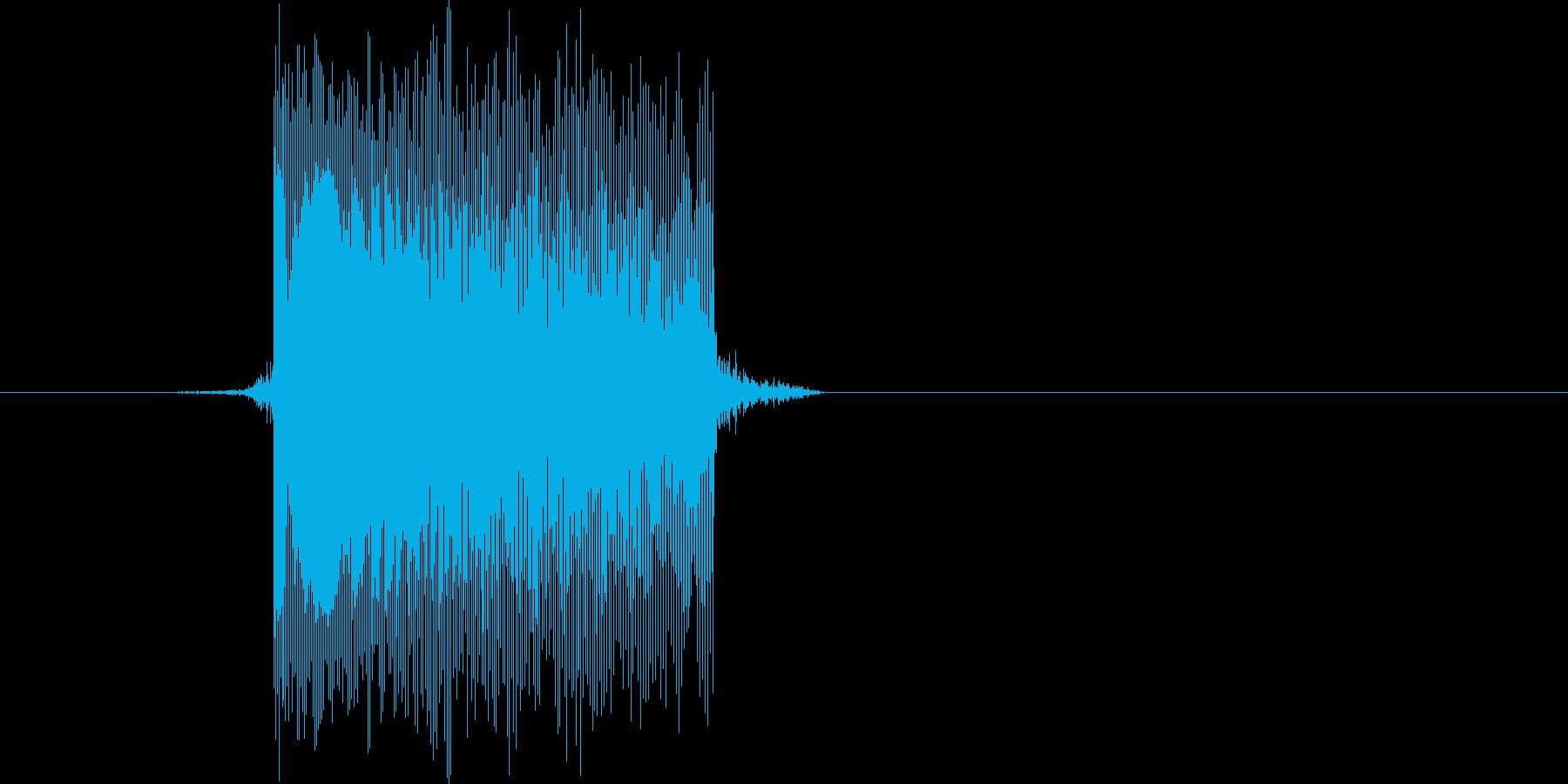 ゲーム(ファミコン風)レーザー音_014の再生済みの波形