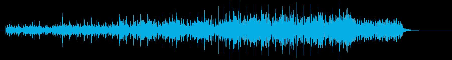 クールなテクノポップスのジングルの再生済みの波形