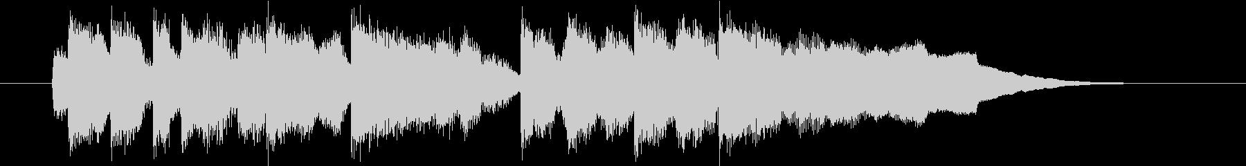 明るい短めのスローテンポの曲の未再生の波形