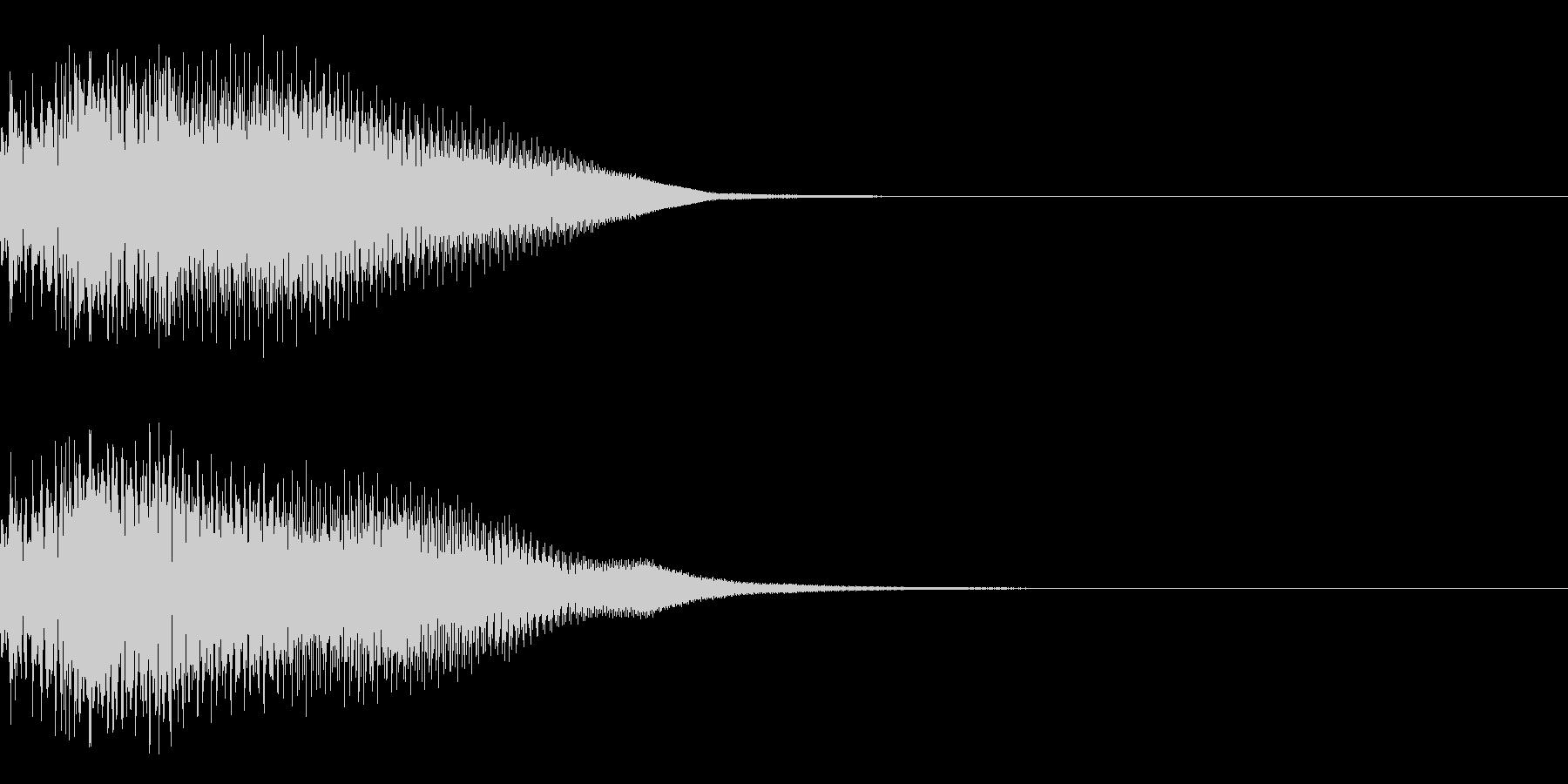 決定音25(シンセN)の未再生の波形