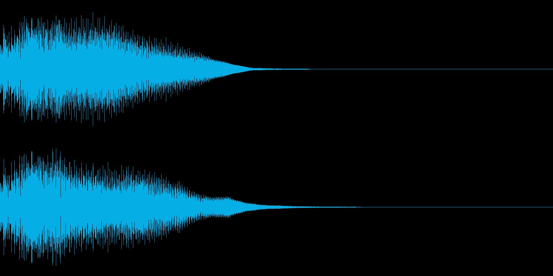 決定音25(シンセN)の再生済みの波形