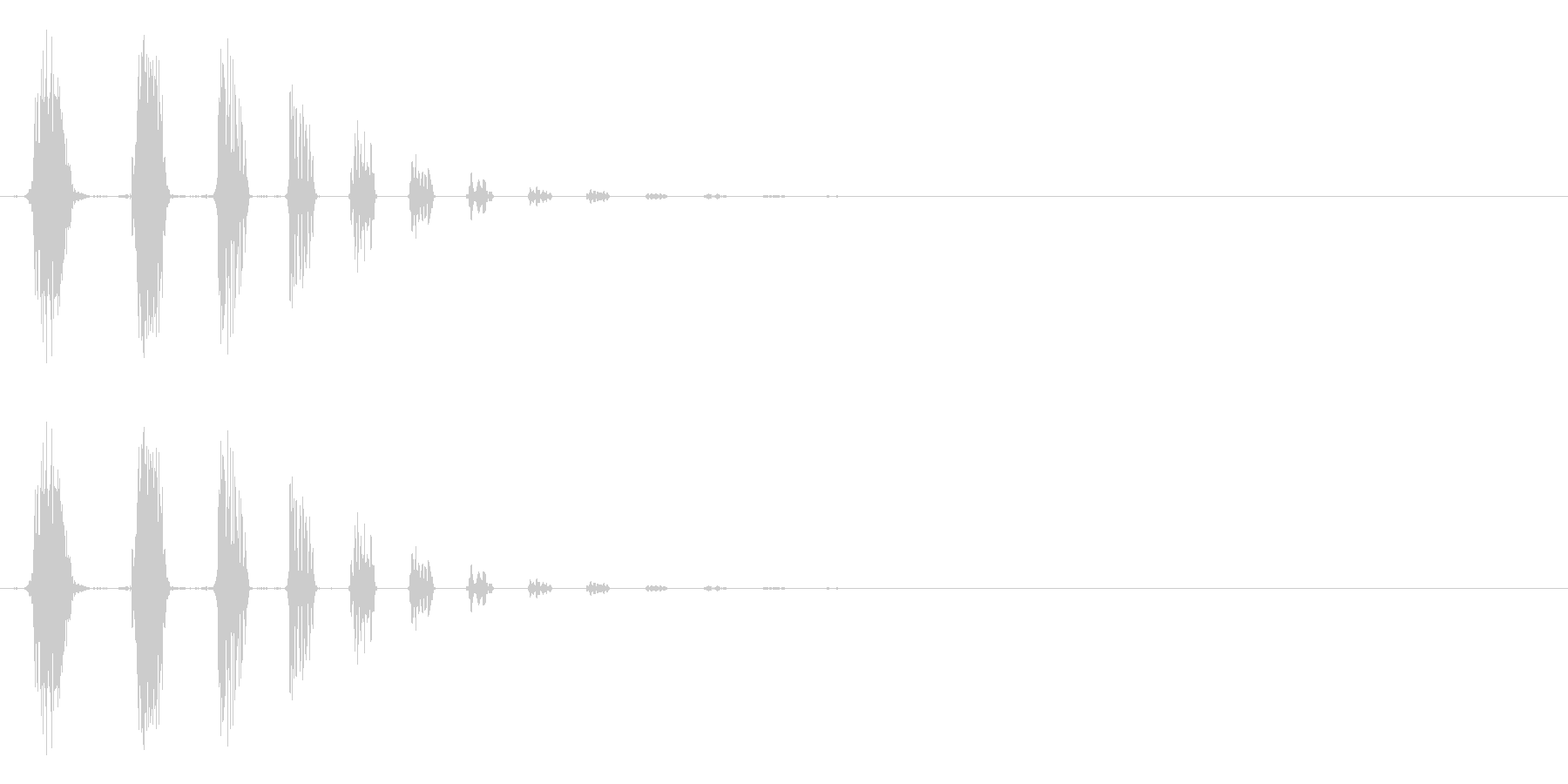 キャンセル等のイメージ(ノイズ系)の未再生の波形