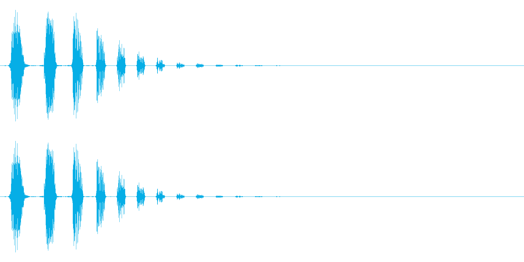 キャンセル等のイメージ(ノイズ系)の再生済みの波形