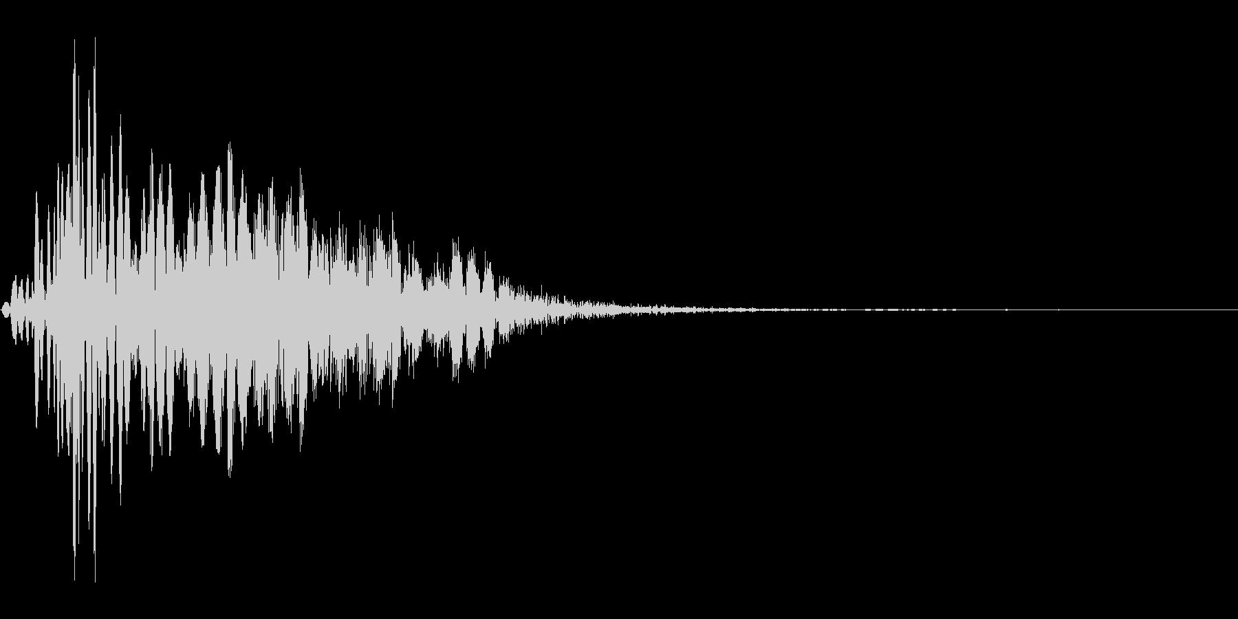 ツッコミ パンチ 1B デュクシの未再生の波形