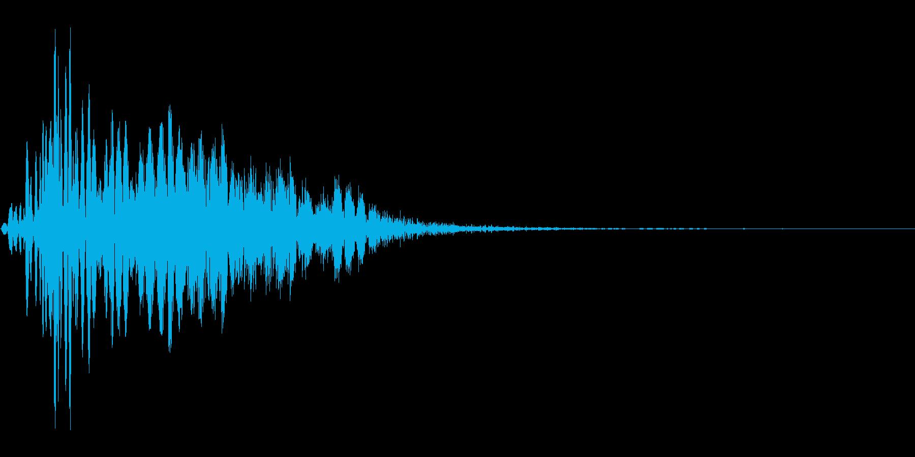 ツッコミ パンチ 1B デュクシの再生済みの波形