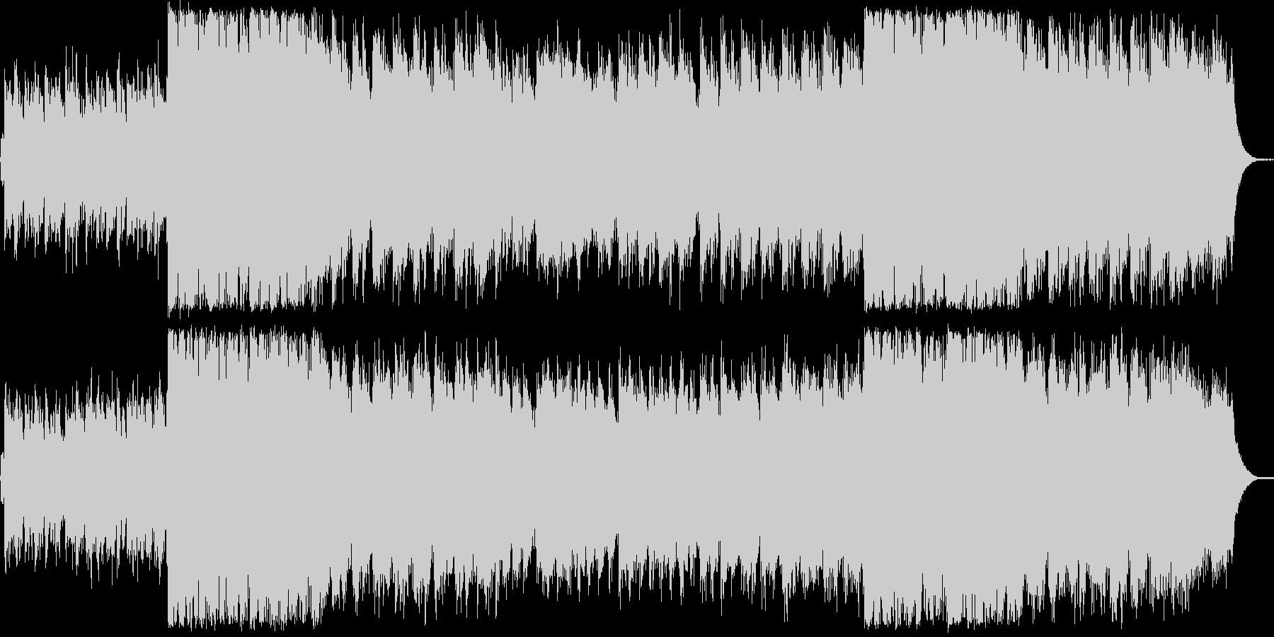 グリーンスリーブス様ノスタルジックな曲の未再生の波形