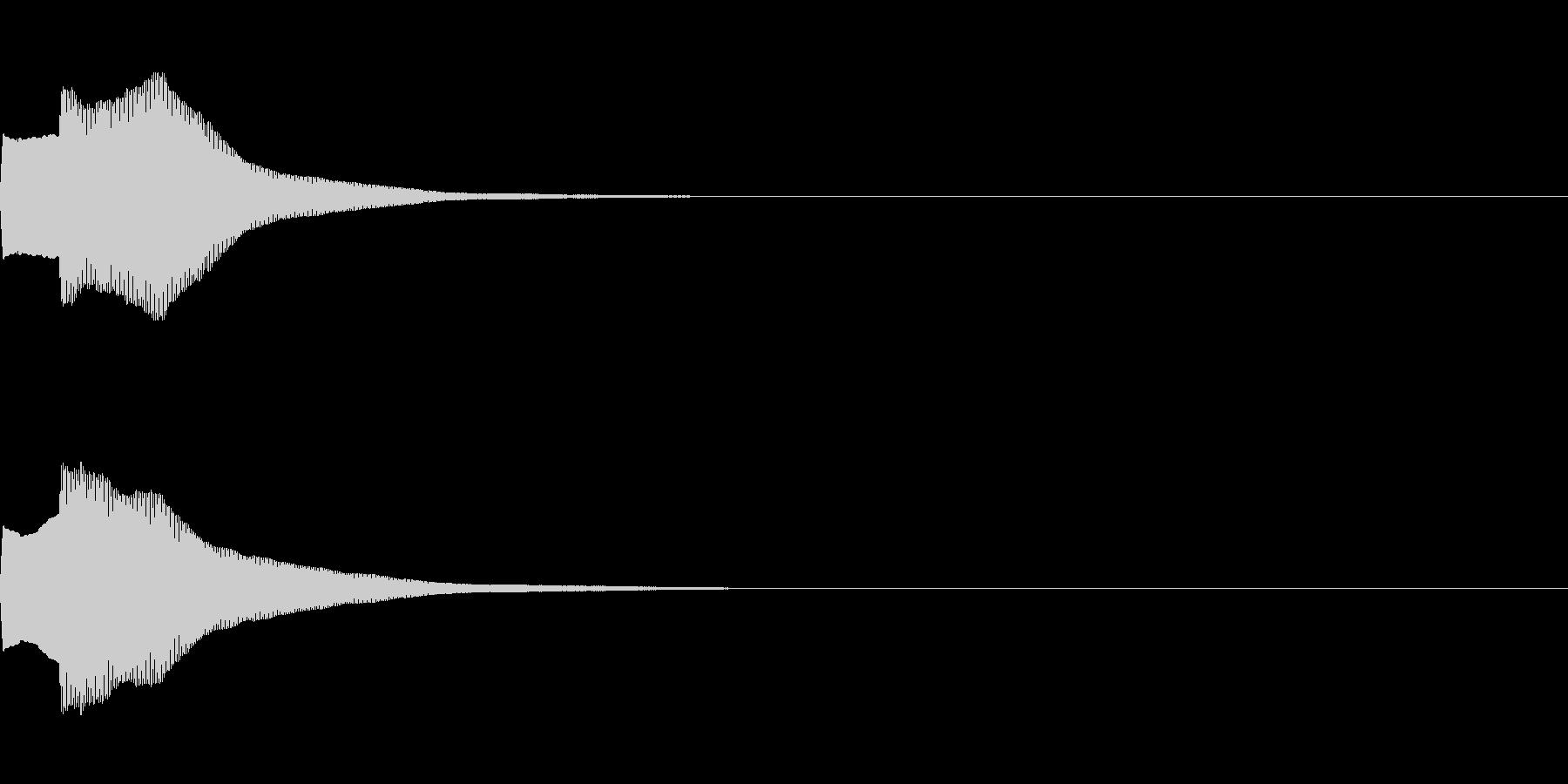 決定音72_シンセAIの未再生の波形