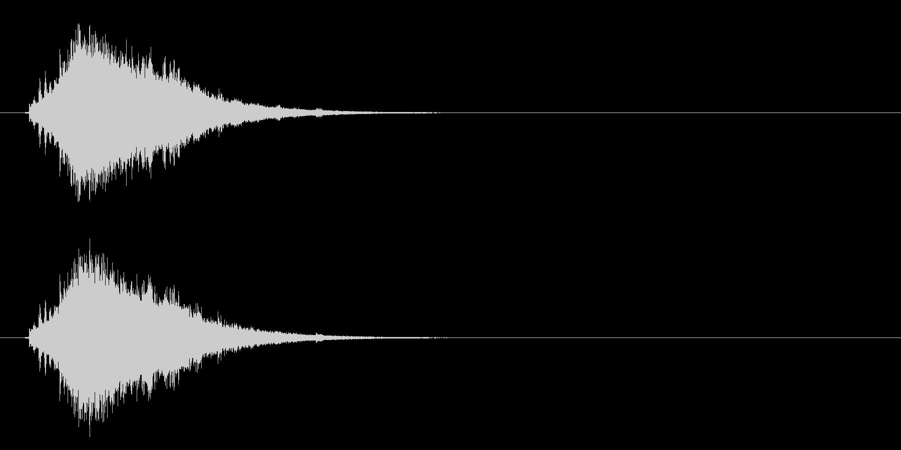 流れ星・彗星 尾を引くキラキラ シューンの未再生の波形
