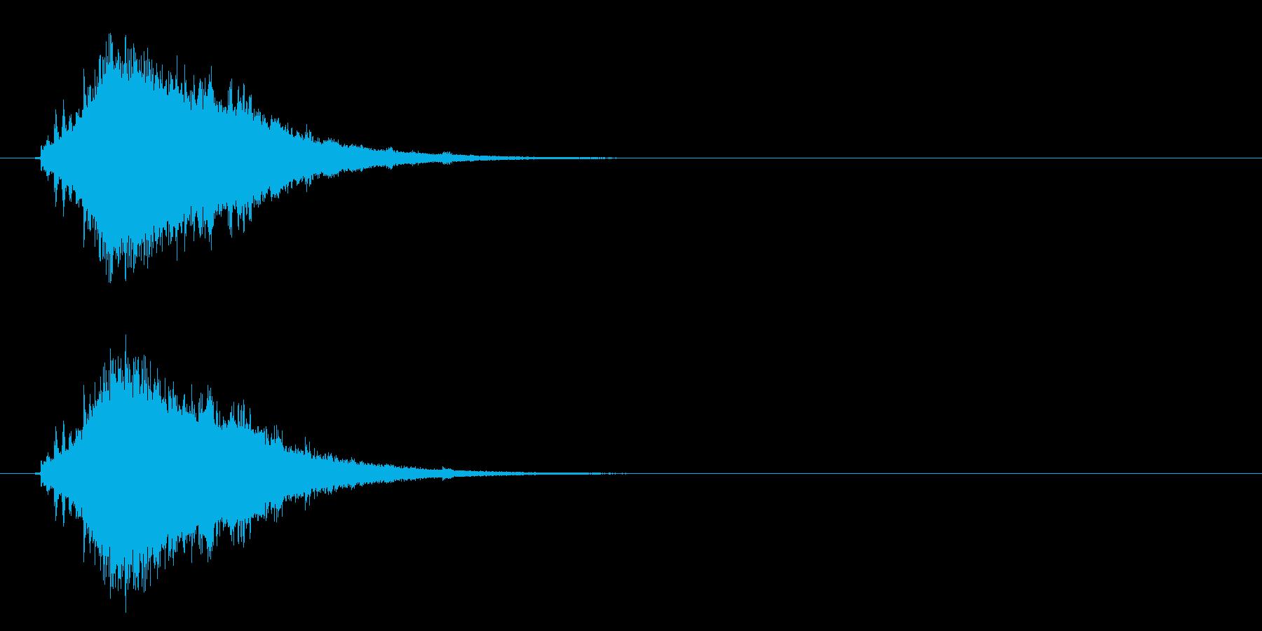 流れ星・彗星 尾を引くキラキラ シューンの再生済みの波形