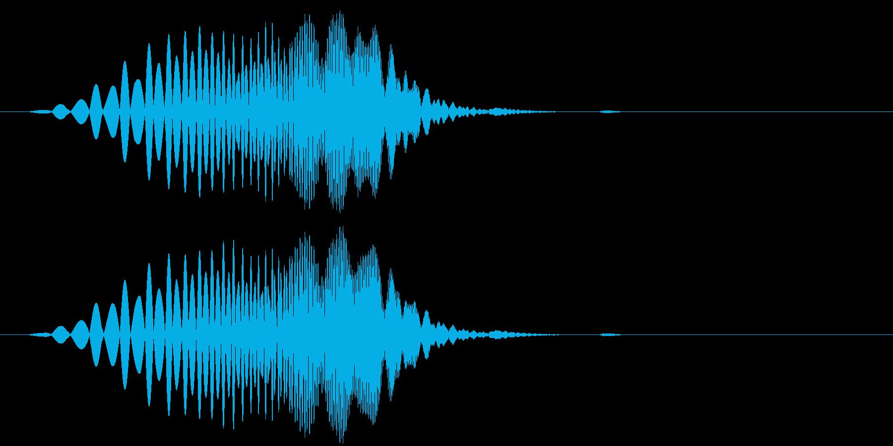 プイ(回復・ドロップなど小さめの上昇音)の再生済みの波形