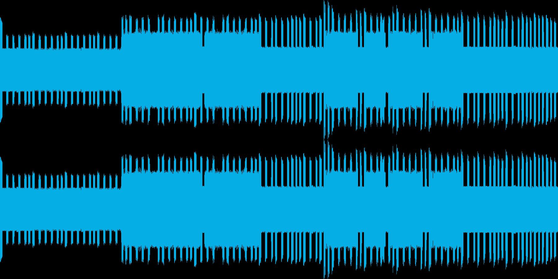 ファ○コン風のピコピコ音楽の再生済みの波形