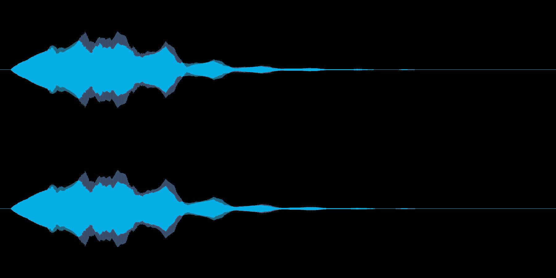 シンプルな電子音・アイキャッチ2の再生済みの波形