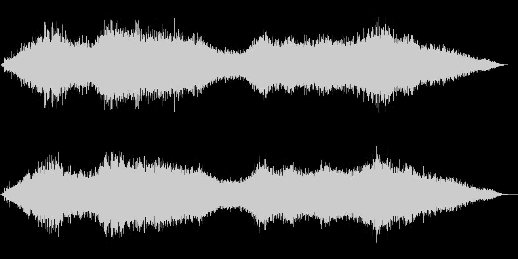 流氷と風音のクリスタルかつ神秘的な音風景の未再生の波形