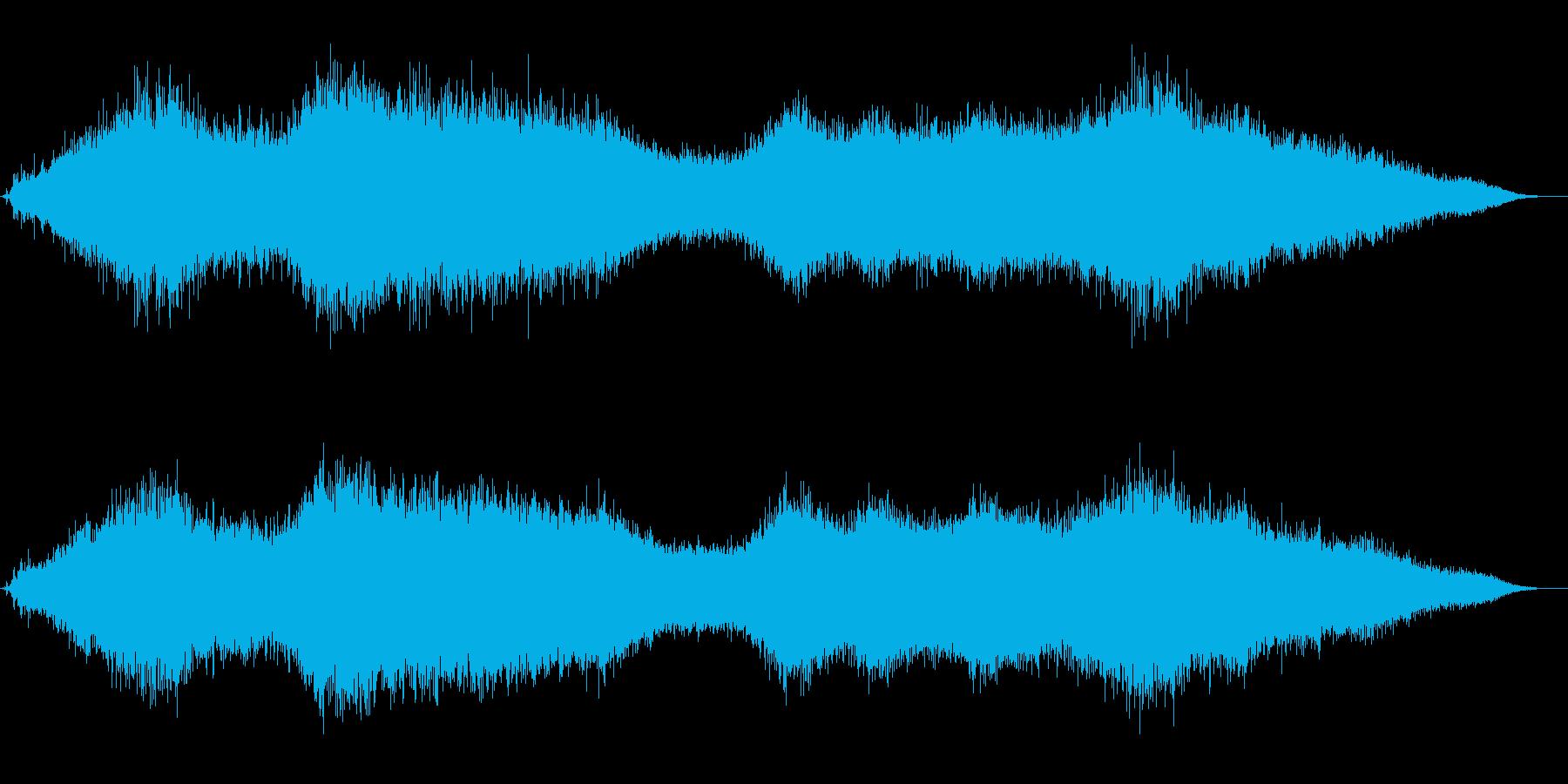 流氷と風音のクリスタルかつ神秘的な音風景の再生済みの波形