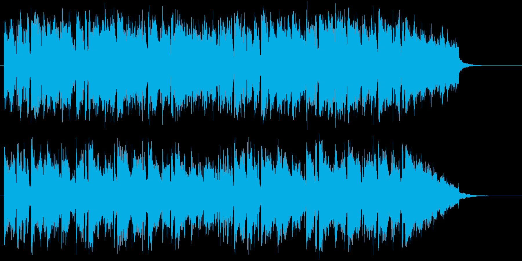 ニュースのオープニング シンセメロディーの再生済みの波形