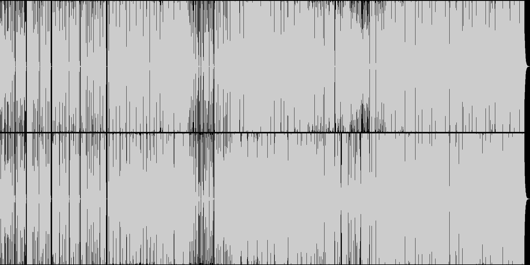 疾走感のあるエレクトロニカの未再生の波形