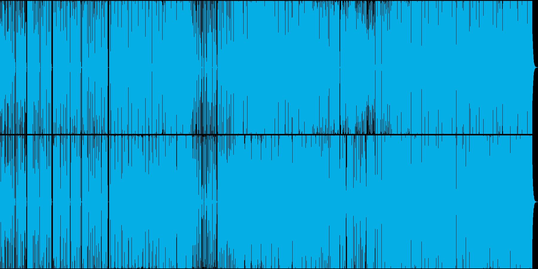 疾走感のあるエレクトロニカの再生済みの波形