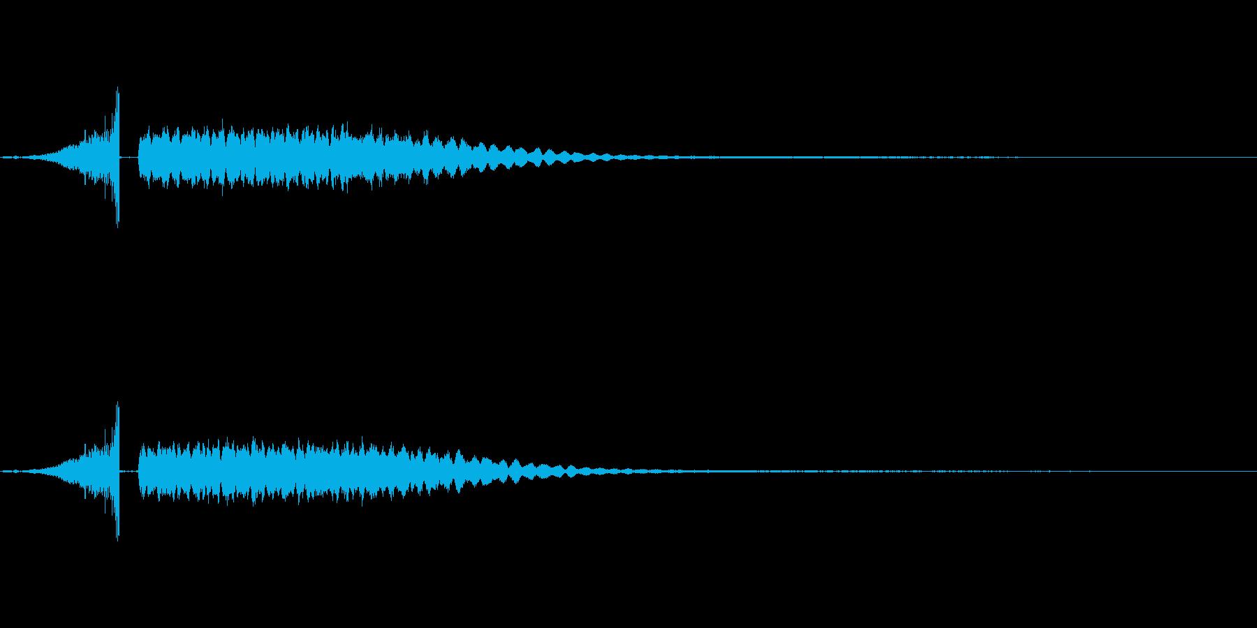 [シャキーン] の再生済みの波形