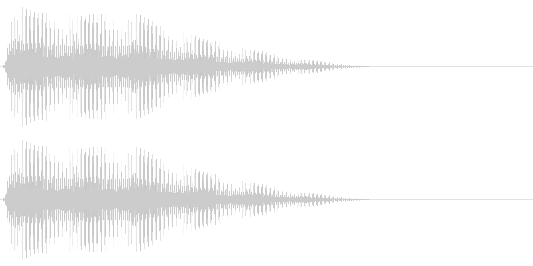 OctaveCom アプリ用タッチ音9の未再生の波形