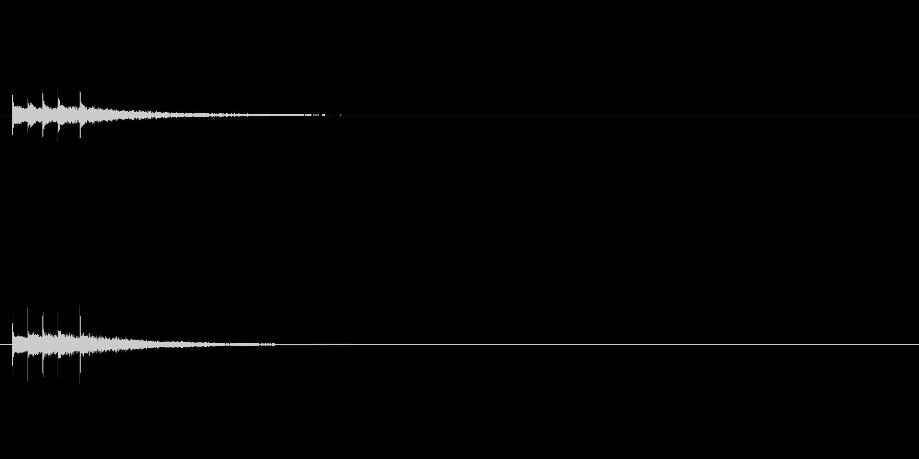 オリジナルの効果音キランの未再生の波形