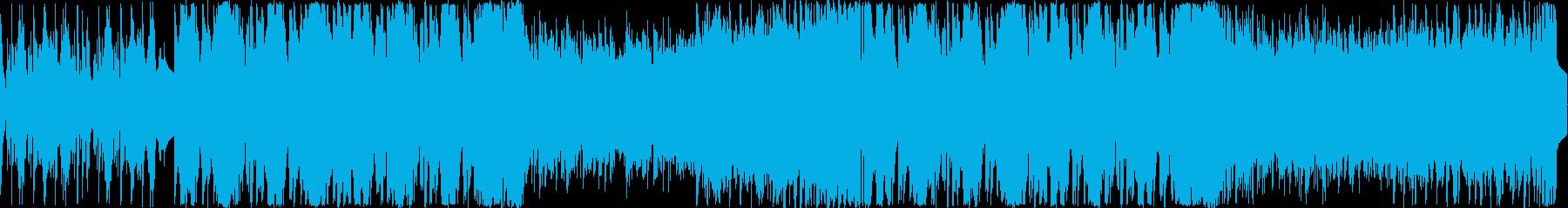ダークファンタジーのゲーム曲の再生済みの波形