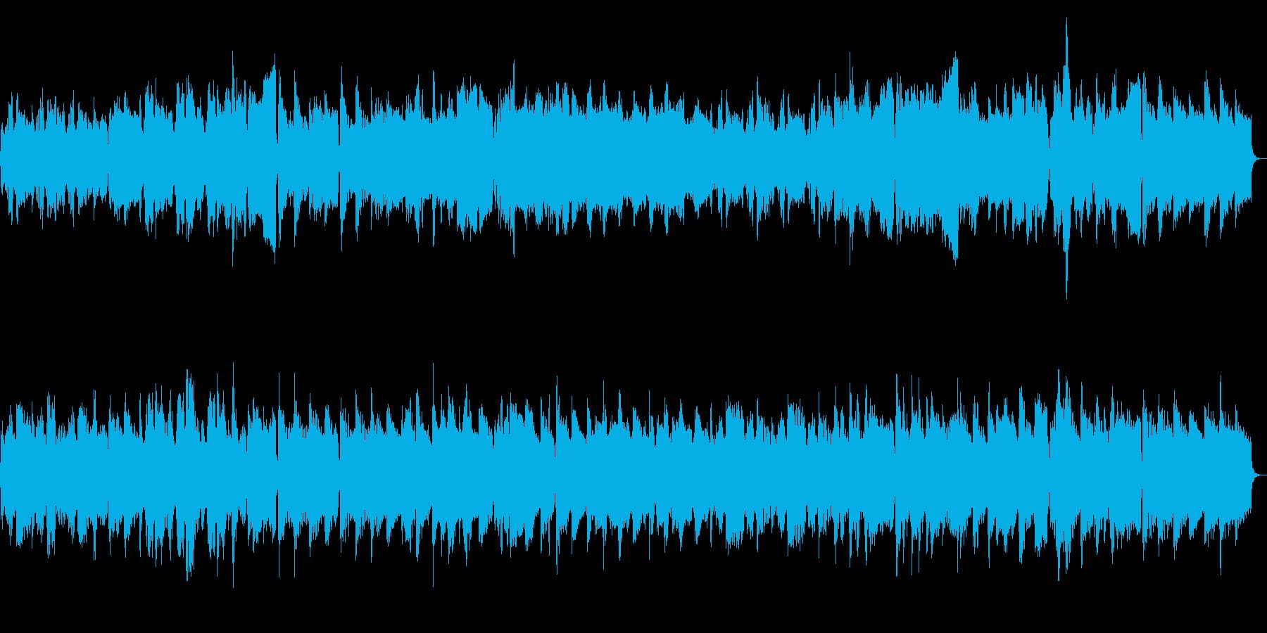 エキゾチックで不思議な雰囲気の木管曲の再生済みの波形