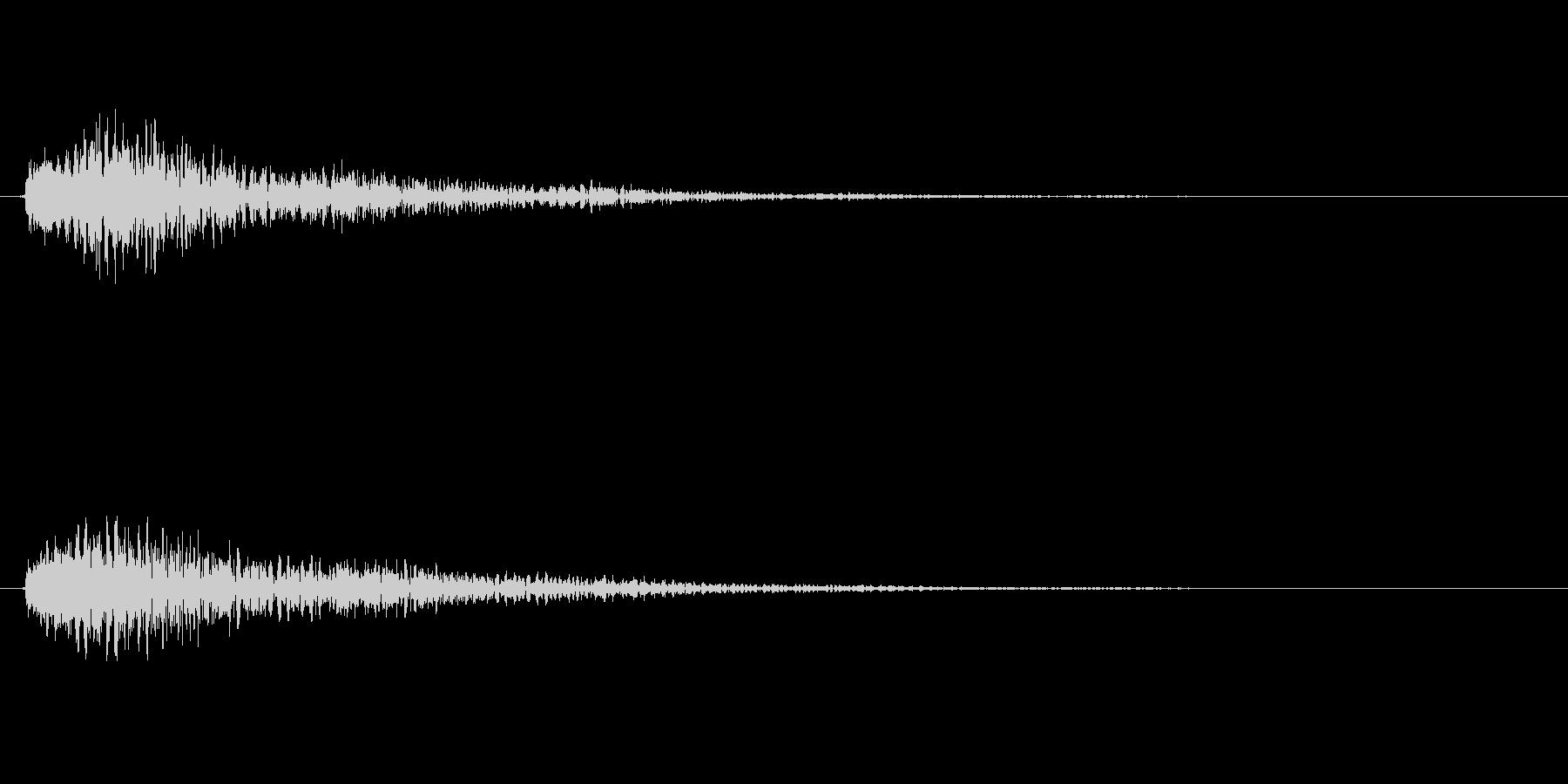 重厚なベルの効果音(ボタン、通知)の未再生の波形