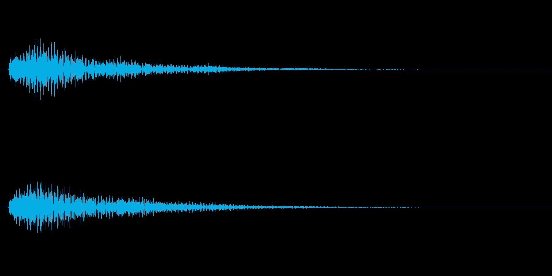 重厚なベルの効果音(ボタン、通知)の再生済みの波形